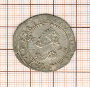 joli buste de Charles Quint sur pièce argent de 2 gros Besançon 1623