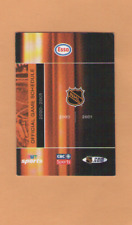 2000-01  NHL HOCKEY OFFICIAL MASTER ALL GAMES POCKET SCHEDULE