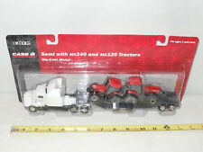 Case IH MX240 & MX120 Kenworth Semi Hauling Set  By Ertl  1/64th Scale