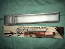 Vintage Logitech Ruler Calculator With Magnifying Glass