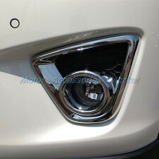 New Chrome Front Fog Light Cover Trim For Mazda CX-5 CX5 2012 2013 2014