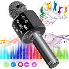 Wireless Bluetooth Karaoke Mikrofon Lautsprecher Handheld Mic KTV Microphone DE
