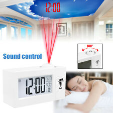 Digital Snooze LCD Alarm Clock Calendar all Projector Projection Thermometer  B