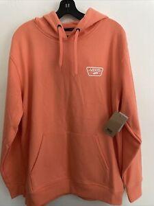 New Mens VANS  Street Style Long Sleeve Hoodie Pullover Sweatshirt Peach Size M