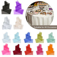 25 to 100pcs Organza Sashes WIDER FULLER BOWS Chair Cover Bow Sash Wedding Party