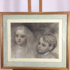 Eden Upton Eddis Chalk Study Of Two Children Boy And Girl