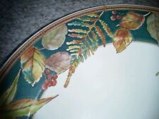 "6 GORGEOUS Mikasa FALL LEAVES THANKSGIVING Dinner SOUP PASTA BOWLS * 9"" Wide Rim"