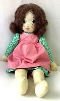 Vintage 70s Holly Hobbie Doll Simplicity Pattern 6006 Cloth Girl Button Eyes