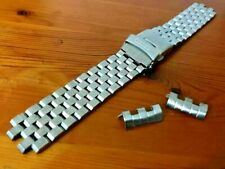 22mm Seiko solid Turtles stainless steel curved lugs watch strap new.