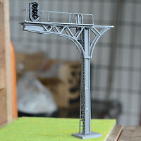 2 x O gauge Model Cantilever Signal Bridge LED made 3 aspects single Track gray