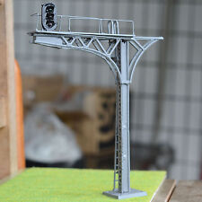 2 x O gauge Model Cantilever Signal Bridge LED made 3 aspects single Track gray