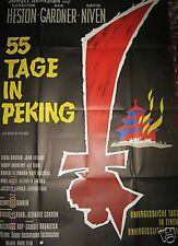 CHARLTON HESTON + 55 TAGE IN PEKING + AVA GARDNER + DAVID NIVEN + A0 +