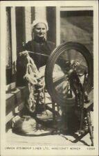 Canada Steamship Lines Ltd Crafts Woman Spinning Wheel Real Photo Postcard