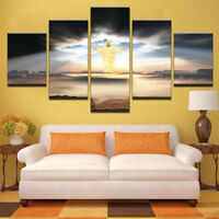 The Second Coming Of Jesus Christ 5 Panel Canvas Print Wall Art Home Decor