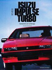 1986 Isuzu Impulse Turbo Original Car Review Print Article J533