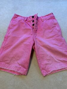 Genuine Abercrombie & Fitch Men's Shorts, Pink, Medium, Size 30. Bargain!