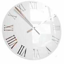 Roco Verre 3D Mirror Acrylic Roman Clock White 57cm Diameter