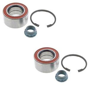 For BMW E46 325i 325Ci E36 318i 328is Rear Wheel Bearing Set Nut Rings OEM FAG