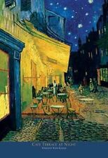 24x36 Van Gogh Cafe Terrace Art Print Poster shrink wrapped