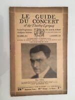 El Guía de La Concierto Y Las Teatro Letra Paul Kaul N º 6 1929