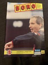 1991 Middlesbrough V Swindon Town  Football Programme