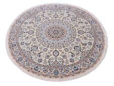 Nain 9 La 215 x 215 cm feiner Handgeknüpfter Orientteppich Perser Beige Rund Neu