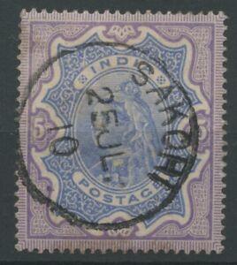 India 1895 SGSG109 5r Used Purple/Blue