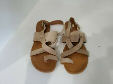 Franco Sarto Womens Beige Suede Ankle Strap Sandals Size 10 M