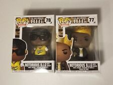 Funko Pop Rocks #77 & #78 The Notorious B.I.G. Biggie Smalls collection Mint
