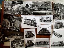 Lotto di 19 vecchie fotografie sul modellismo treni anni 60 loco trifase [TR.8]