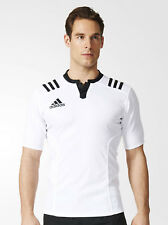 adidas 3 Stripes Fitted Rugby Jersey T-shirts Tech Xs-white / Black