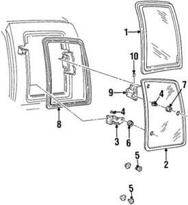 Genuine GM 1988-1993 Chevrolet GMC Movable Glass Passenger Side 15630156