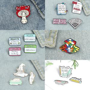 Pin Brooches Magic World Backpack Badges Hard enamel lapel Bag Jeans Goth Punk