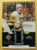 2019 20 Ultimate Collection Jake Guentzel Icons Jersey Pittsburgh