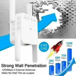 Dual Band WLAN Repeater Range Extender Signalverstärker 1200 Mbit 2,4/5 GHz Weiß