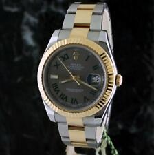 Rolex DATEJUST II 41mm 116333 18k Gold/SS ~ SLATE ROMAN dial ~ RANDOM SER ~ B&P