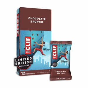 Clif Bar Chocolate Brownie Protein Bars - 12 Count 2.4 oz  Best By 01/23/2021