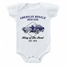 American Muscle FORD Mustang Speed Shop 1964 Baby One-piece Bodysuit T-shirt