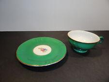 Royal Heidelberg Winterling Demitasse Green Cup and Saucer
