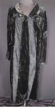 VERY RARE FRENCH EDWARDIAN 1900-1920 BLACK SILK VELVET DRESS SIZE 10