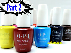SALE!!! OPI GelColor UV/LED Gel Nail Polish 15ml/.5oz /Choose Any Colour Part 2