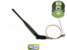 5dBi WiFi Antenna 2.4ghz / 5.8ghz and 10 INCH RP-SMA Extension Cable RG178 USA