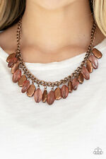 Paparazzi Jewelry copper teardrops, copper chain necklace w/ Earrings nwt