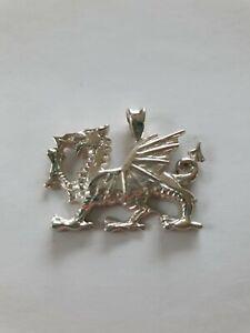 Silver Welsh Dragon Pendant D5PS