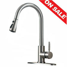 High Arc 1 or 3 Hole Single Handle Pull Out Spray Kitchen Sink Faucet With Cover