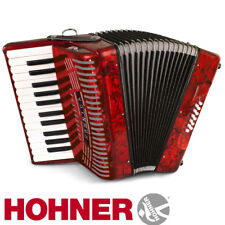 NEW Hohner Hohnica 1303 26 Key Student Piano Accordion - Red + Gig Bag, Straps