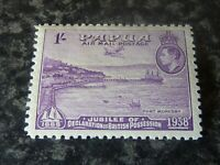 PAPUA AIR MAIL POSTAGE STAMP SG162 1/- MAUVE LIGHTLY-MOUNTED MINT