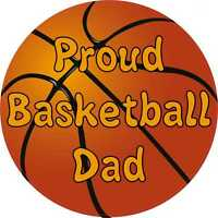 5inx5in Proud Basketball Dad Bumper Sticker Decal Car Window Stickers Vinyl D...
