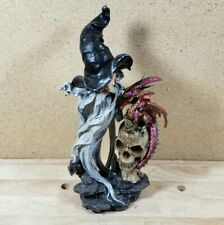 Mystical Wizard Dragon Skull Figure Figurine Tall Magic Fantasy Sr-19