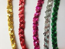 1.5 cm Wide Sequin Lace Ribbon Trim for Craft, Costumes, Dressmaking 1 Yard